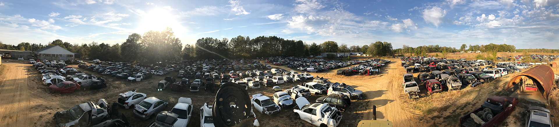 Wrecked cars in Keith Auto Recyclers salvage yard